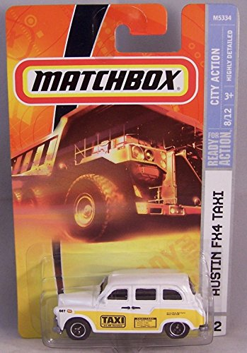 Matchbox 2008 #52 Austin FX4 Taxi White & Yellow [Toy] - 1