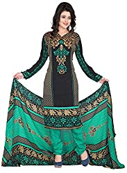 Manvaa Women's & Girl's Embroidered unstitched Dress Material With Dupatta