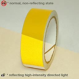 JVCC REF-7 Engineering Grade Reflective Tape: 1-1/2 in. x 30 ft. (Yellow)
