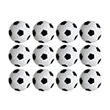 Table Soccer Foosballs Replacements Mini Black and White Soccer Balls (12 Pack) (Color: 12 Pack, Tamaño: Small)