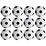 Table Soccer Foosballs Replacements Mini Black and White Soccer Balls - Set of 12 by Super Z Outlet®