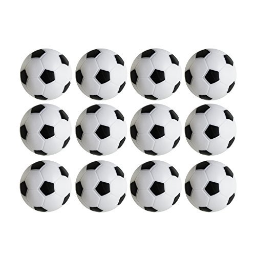 Lowest Prices! Table Soccer Foosballs Replacements Mini Black and White Soccer Balls - Set of 12 by ...