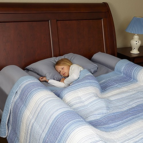 2 pack foam bed bumpers toddler bed rails with. Black Bedroom Furniture Sets. Home Design Ideas