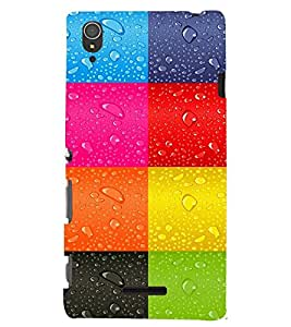 PRINTSWAG COLOURFUL SQUARES Designer Back Cover Case for SONY XPERIA T3