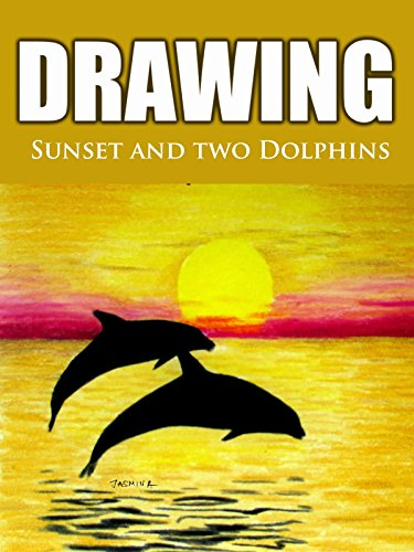 Clip: Drawing Sunset and Two Dolphins