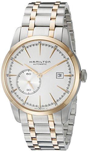 Hamilton da uomo 41mm due tono bracciale in acciaio inossidabile quadrante orologio analogico automatico Silver-Tone h40525151
