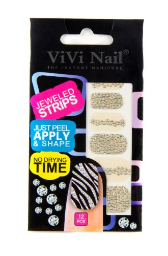 ViVi Nail ヴィヴィ ネイルシール 貼るだけ jeweled strips NS014ー619