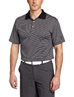 PGA TOUR Men's Three Color Fine Line Striped Polo Shirt