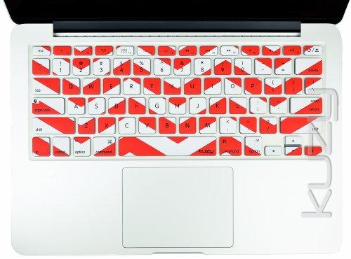 $$  Kuzy - Red Chevron Zig-Zag Keyboard Cover for MacBook Pro 13