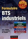 echange, troc Gilles Dumenil, Richard Mauduit, Eric Wenner - Formulaire BTS 1er et 2e années industriels