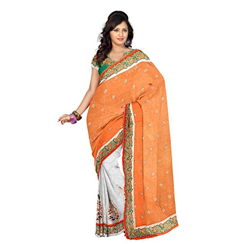 Aagaman-Fashion-Jacquard-Viscose-Sarees-TSPN2917Orange