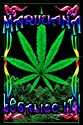 Marijuana Leaf Blacklight Poster Print, 23x35