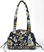 Stephanie Dawn Handbag - Indigo Garden - New Quilted Handbag USA 10005-018