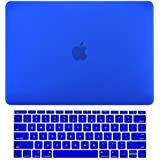 MacBook Pro 15 Case 2016, A1707 Rubberized Hard Case (NEWEST Release October 2016) With Touch Bar & Touch ID Shell Cover 15-inch + Free Keyguard + Touch Bar Protector + Dust Plugs Free (Dark Blue )