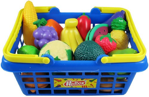 Toy Food For Toddlers : Toy kitchen sets fruit and vegetable basket pretend play