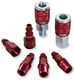 Legacy A73457D Color Connex Type D 7 Piece 1/4 in. Red Coupler and Plug Kit