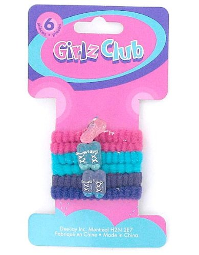 6Pc Shoe Hair Ties (Case of 144 )