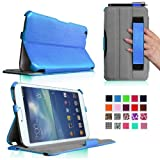 Fintie Folio Hardback Leather Case With Built-in Stand Auto Wake/Sleep For Samsung Galaxy Tab 3 8.0 Inch Tablet...