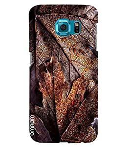 Omnam Soak Leaves With Water Drop Pattern Printed Designer Back Cover Case For Samsung Galaxy S7 EDGE