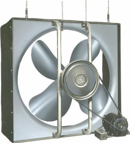 "Airmaster 32688 Whole House Fan, 2 Speed, Semi-Enclosed Motor, 30"" Prop Diameter, 115V, 1/3Hp Motor"