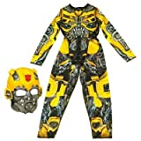 NEW TRANSFORMERS DARK OF THE MOON ROBO POWER COSTUME/FANCY DRESS BUMBLEBEE