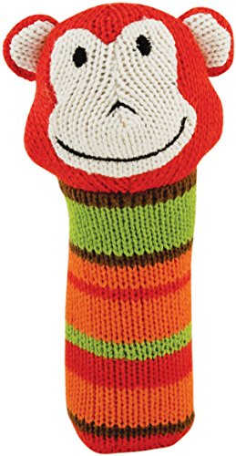 Rich Frog K'nits Squeak Easy Monkey Baby Squeaky Toy - 1