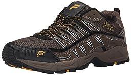 Fila Men\'s AT Peake Trail Running Shoe, Brown/Walnut/Goldfish, 11.5 M US