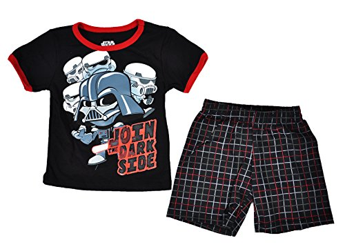Disney Toddler Star Wars Tee and Shorts Set (Black, 2T)