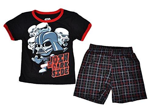 Disney Toddler Star Wars Tee and Shorts Set (Black, 2T)