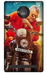 iessential thala Designer Printed Back Case Cover for YU Yuphoria YU5010A