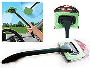 Car Interior Cleaning & Detailing Kit - 2 Microfiber Windshield Cleaner Wands, 1 Dual Head Brush, & 5 Reusable Microfiber Cleaning Cloths