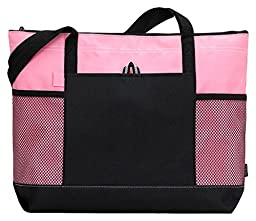 Gemline Select Zippered Tote (1100)-Pink,One Size