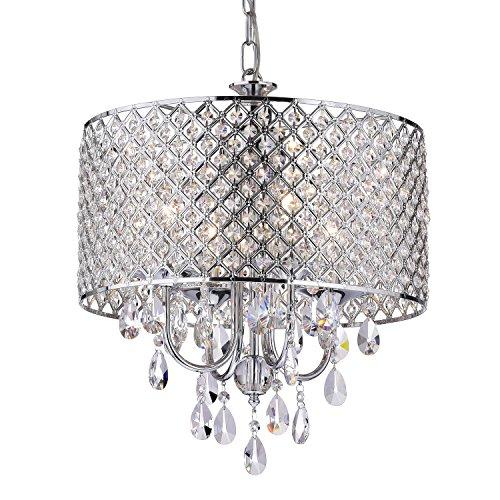 edvivi-epg801ch-chrome-finish-drum-shade-4-light-crystal-chandelier-ceiling-fixture-round