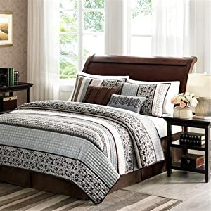 Madison Park Princeton 5 Piece Coverlet Set - Blue - Full/Queen