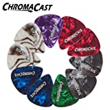ChromaCast Pearl Celluloid Picks -- Assorted Colors 10 Pack - Medium