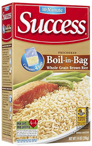 Success Boil in Bag Whole Grain Brown Rice, 14 oz, 4 ct - 2 Pack (Boil In The Bag Rice compare prices)