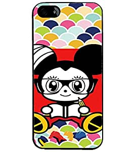 PrintDhaba Cartoon D-3211 Back Case Cover for APPLE IPHONE 4 (Multi-Coloured)