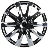 Unitec 75178 Premium- Radzierblenden 4er- Satz Jerez, chrom 35,6 cm (14 Zoll)