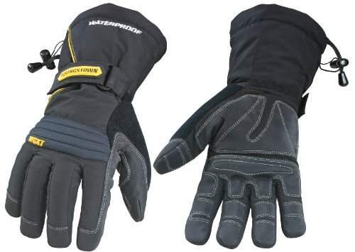 Youngstown Glove 05-3430-80-L Waterproof Gauntlet XT Performance Glove Large, Black