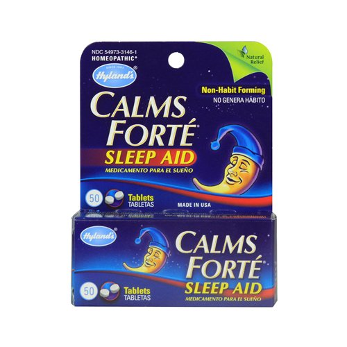 Hylands Homeopathic Calms Forte 50 Tablets front-837344