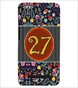 PrintDhaba Numerology Number 27 D-3116 Back Case Cover for ASUS ZENFONE 5 A501CG (Multi-Coloured)