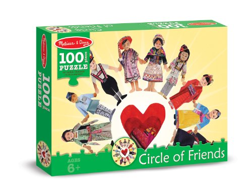 Melissa & Doug Circle of Friends Cardboard Jigsaw Puzzle, 100-Piece - 1