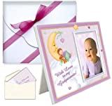 Baptism Christening Godparents Gifts With Love Picture Frame - Girl