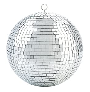 """12"""" Silver Disco Mirror Ball"""