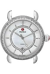 MICHELE Women's MW03T01A1963 CSX Analog Display Swiss Quartz Silver Watch Head