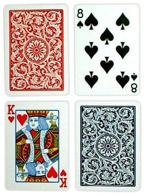 Copag Poker Size Regular Index 1546 Playing Cards (Blue Red Setup)