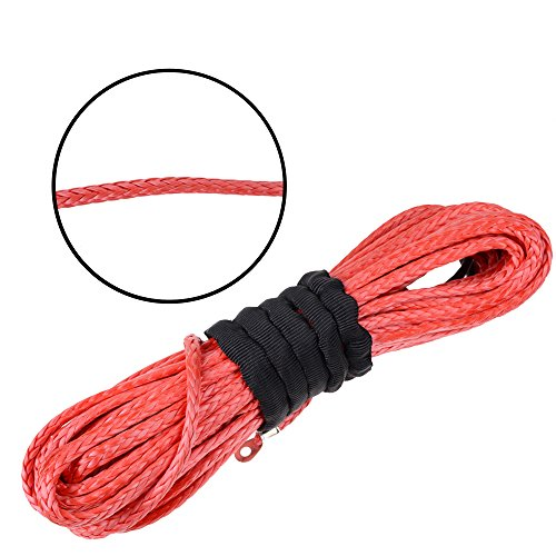 Astra-Depot-14-x-50-RED-Synthetic-Winch-Rope-Cable-6400LBs-For-JEEP-ATV-UTV-KFI-Recovery-SUV-Truck