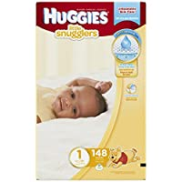 Huggies Little Snugglers Diapers, Size 1, 148 Count (Packaging May Vary)