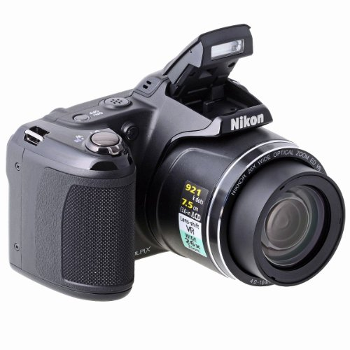 Nikon COOLPIX L810 Compact Digital Camera - Black (16.1MP, 26x Optical Zoom) 3 inch LCD