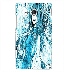 PrintDhaba Cute Girl D-2821 Back Case Cover for SONY XPERIA SP (Multi-Coloured)